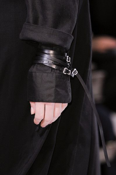 Visions of the Future: Ann Demeulemeester Fall 2013. Does it show that I have a thing for leather straps?
