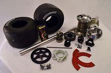 "Drift Trike 40""x1-1/4"" Aluminum Axle Kit W/Clutch,Wheels,and Tires(Black)"
