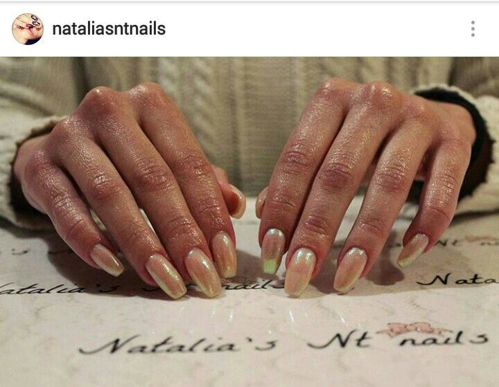 #nails #nude #mermaid