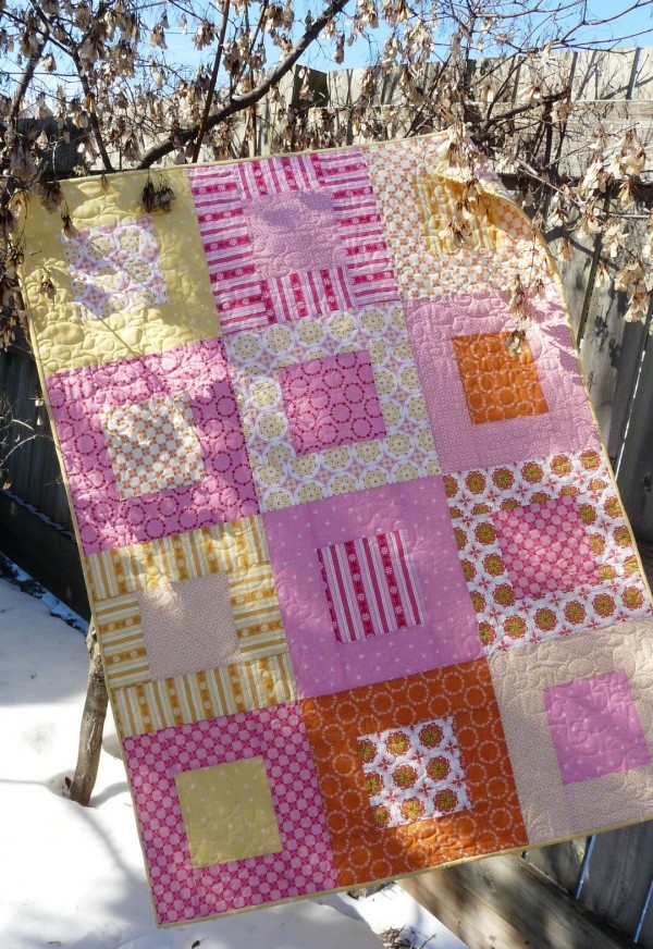 61 best Quilts - Square in a Square images on Pinterest | Quilting ... : simple quilting - Adamdwight.com