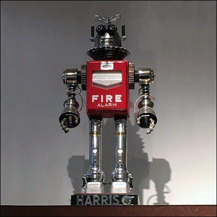 Robot Fire Alarm Prop At Robert Graham