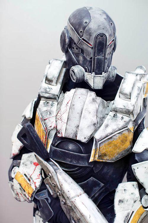 Cerberus Assault Trooper from Mass Effect 3Cosplayer: Steven Massey [WW / DA / FB]Photographer: Anna Fischer [WW / TW / FL / FB]