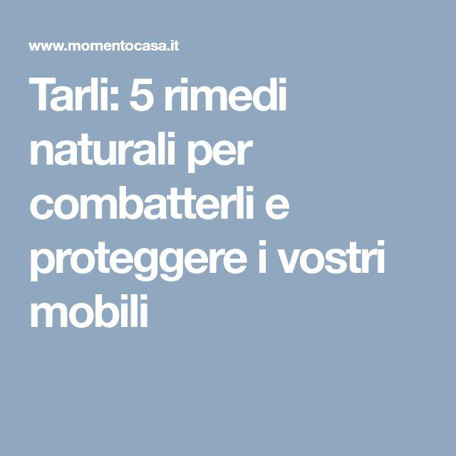 Tarli: 5 rimedi naturali per combatterli e proteggere i vostri mobili