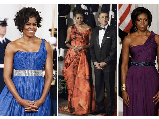 michelle obama abiti monospalla