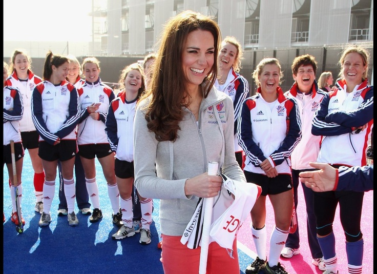 Kate Middleton in her own (stylish) version of field hockey gear.