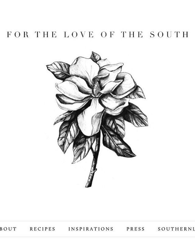 I am so excited to share my new logo with y'all! Poring over countless vintage prints and studying the tiniest of details in botanical lettering led to this simple, elegant new logo: the Southern magnolia (Magnolia grandiflora) bloom, which beautifully depicts strength and elegance. The illustration is by the lovely, talented @raganhouse | Link in profile for the full site!