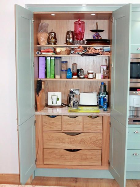 kitchen pantry on this broadoak painted kitchen by fearon bros in