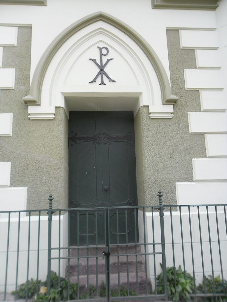 Puerta lateral de la Iglesia Luterana, Cerro Concepción.