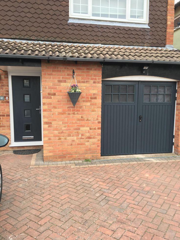 Matching Anthracite Grey Front Door and Garage Door