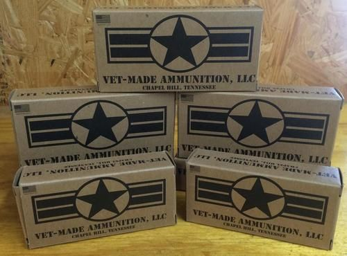 Vet Made Ammo 40S&W 180 GR Round nose - 100rounds/ BX, $32.99