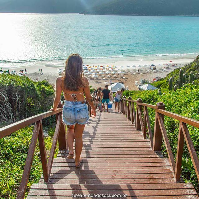 Hoje Visitamos A Mais Famosa Praia De Arraial Do Cabo A Escadaria