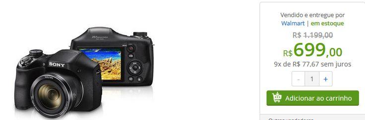 Câmera Sony Cyber-shot DSC-H300 20.1 MP Zoom de 35x  Cartão de Memória de 8GB << R$ 69900 em 9 vezes >>