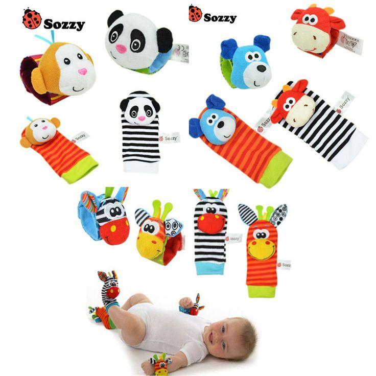 Bayi Mainan Pergelangan Kaki Rattle Finder Kecil Lembut Bayi Laki-laki Mainan untuk 0-12 Bulan Anak Bayi Baru Lahir Mewah kaus kaki Brinquedos