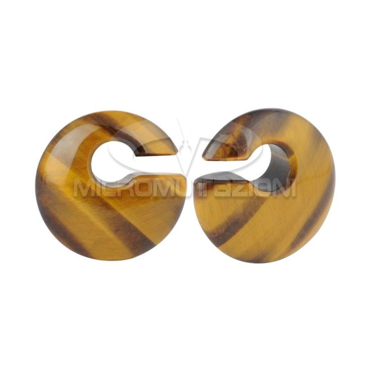 Coppia di Pesi per lobi realizzati in pietra Tiger Iron naturale, Lavorati e lucidati interamente a mano Artigianali Made in Italy 35mm di Micromutazioni su Etsy