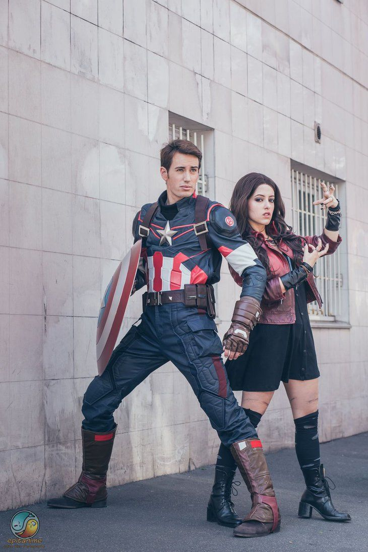 Cap and Scarlet by Lily-on-the-moon.deviantart.com on @DeviantArt