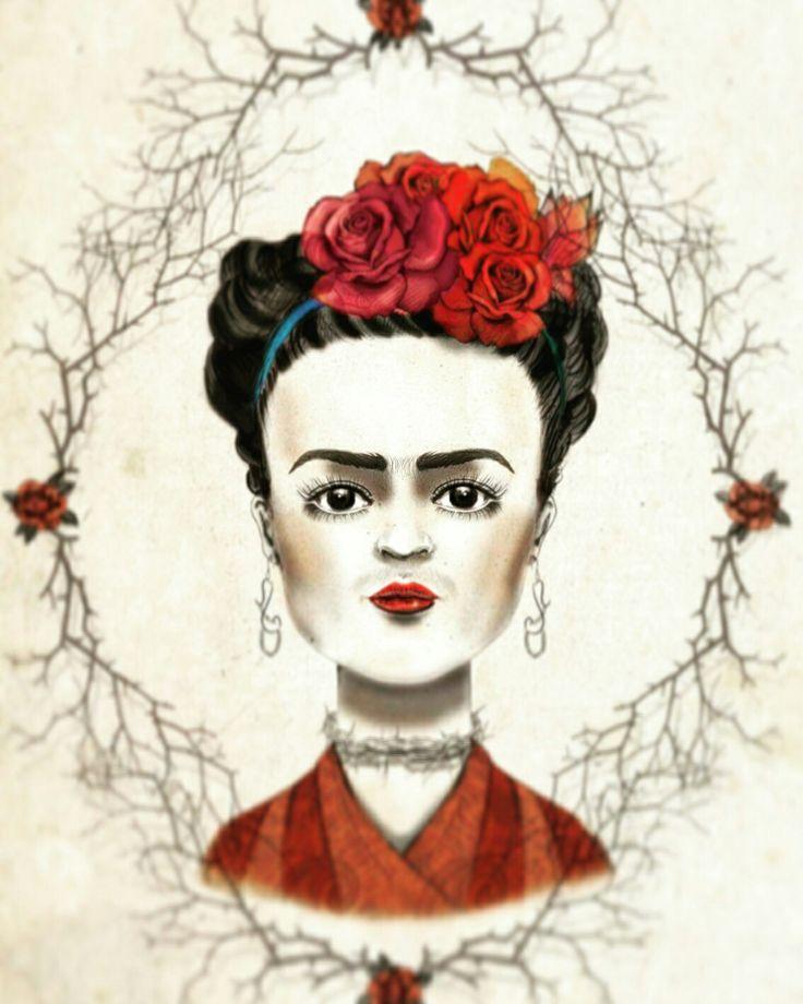 Frida Kahlo Digital illustration Portrait