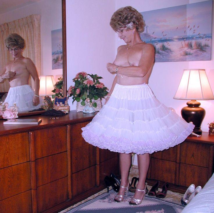 pretty female petticoat nude