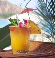 Recept Exotische Vruchtensap.   Ollala, dit is een ware vitaminebom.  Heerlijk! Mango, Ananas en sinaasappels.