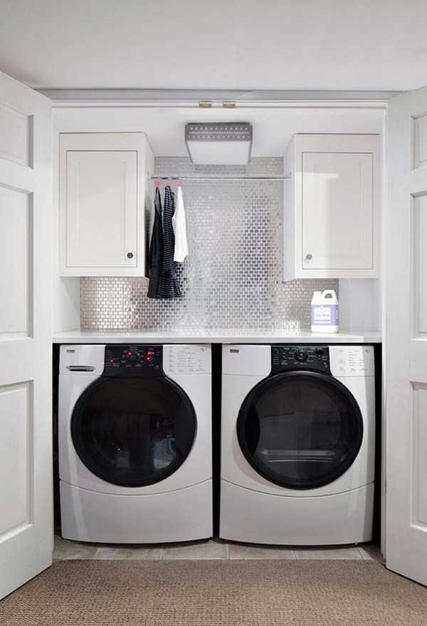 Small Laundry Room Design Ideas-05-1 Kindesign