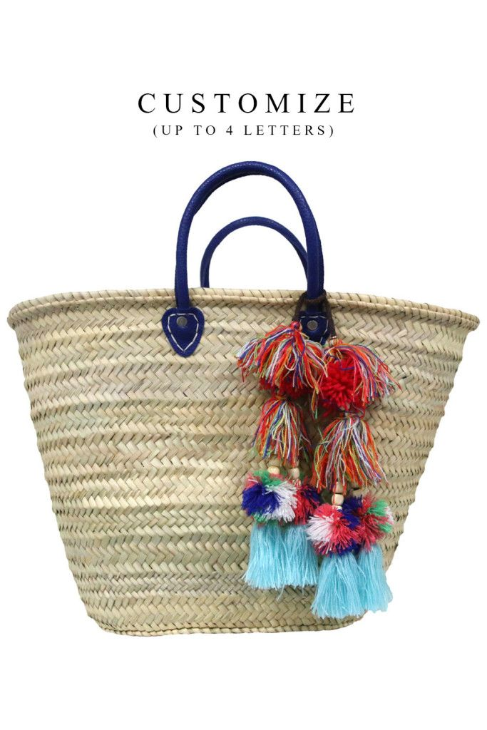Marrakesh Bag – Customize up to 4 Letters </br> Sold with Milla Pom Pom