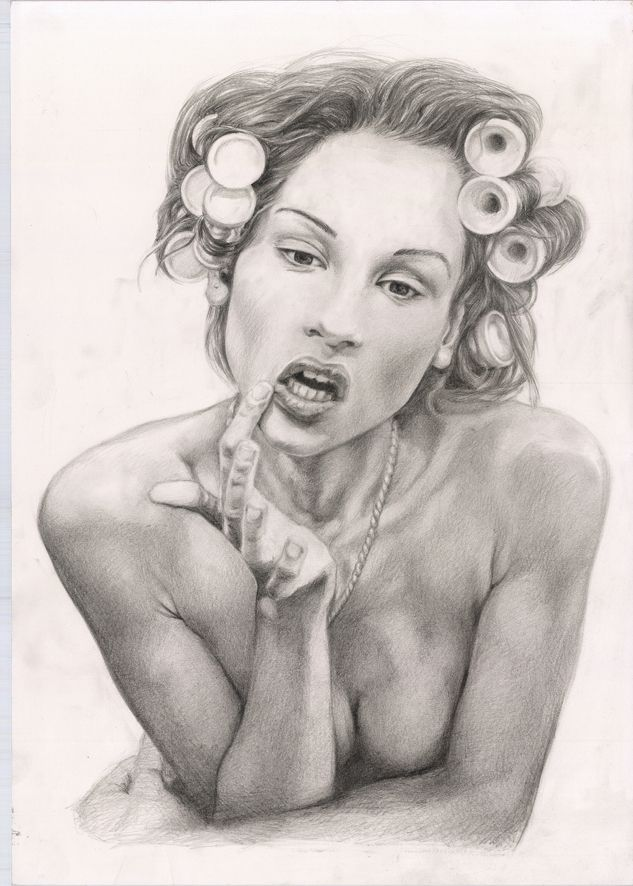 Ma bouche - pencil on paper 2015
