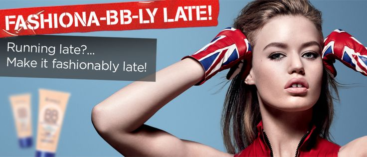 Running late? Make it FASHIONABLY LATE with Rimmel London's new BB Cream. You could win 1 of 5 Survival Kits for those Fashionably Late Moments!