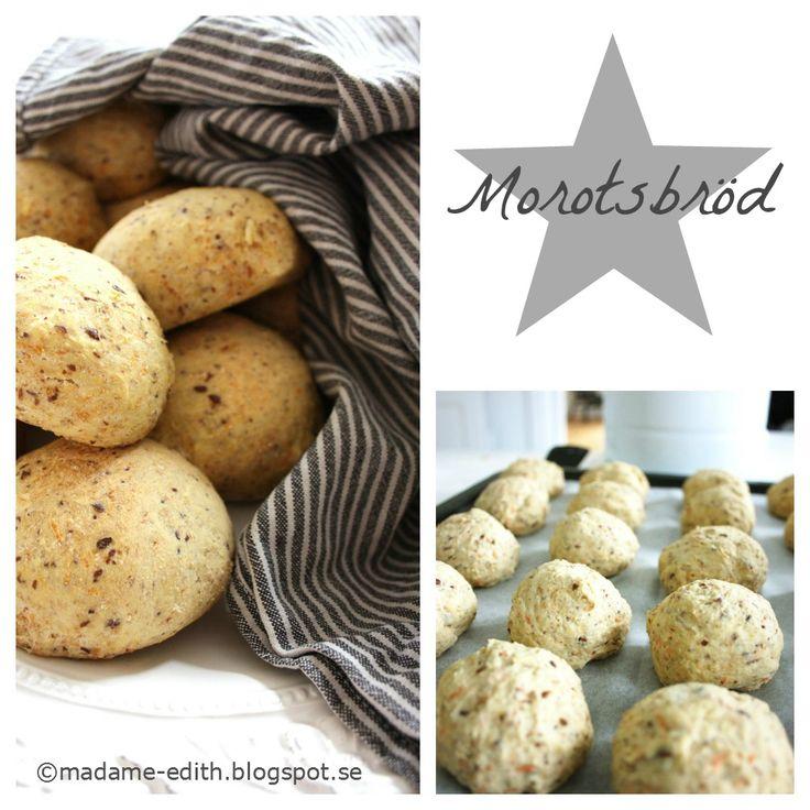 Madame Edith - Recept: Morotsbröd - Nyttigt bröd / frallor