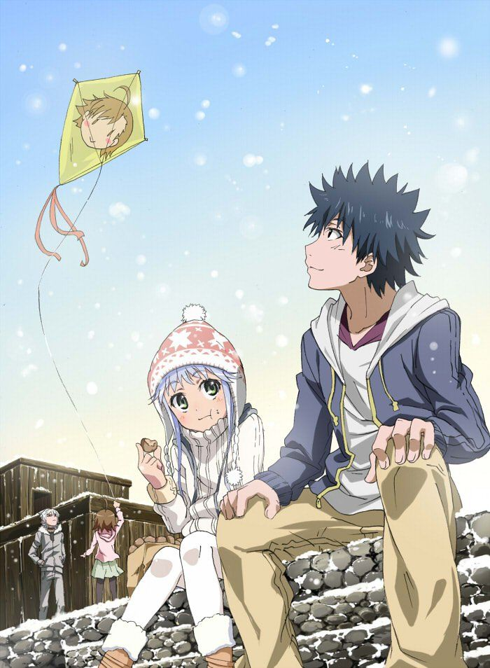 10428 Winter Kite Flying Toaruseries Anime A Certain Magical