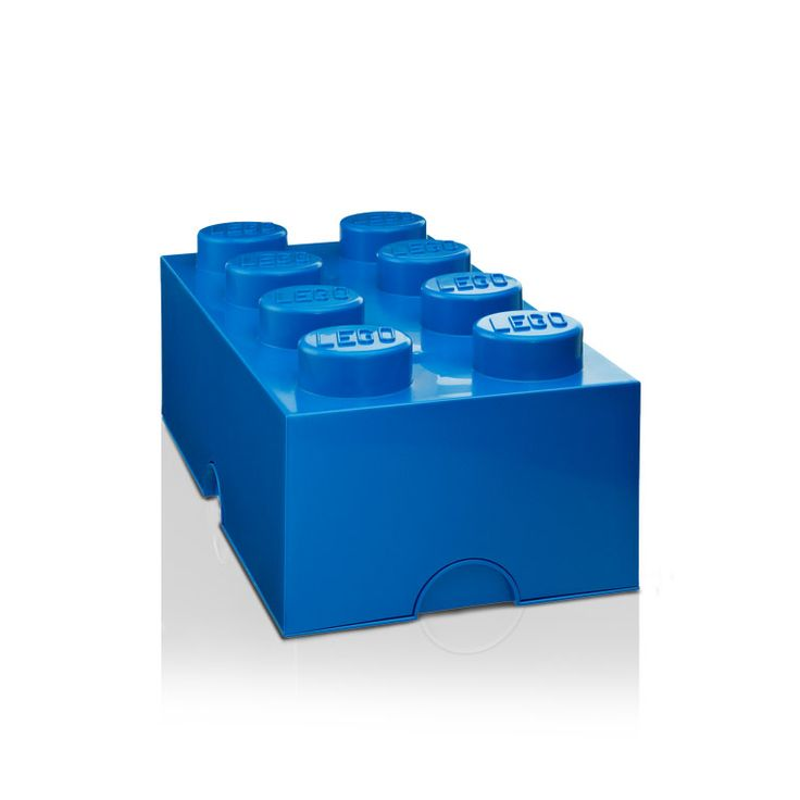 Lego+Oppbevaringsboks+8,+Blå,+Room+Copenhagen