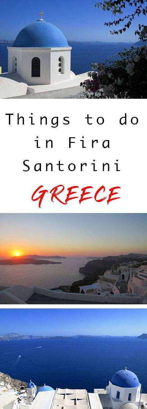 These are the top things to do in Fira Santorini. This list is a great start for getting to know this Greek Island without breaking the bank.  Things to do in Santorini Greece | Great things to do in Fira Santorini | Best things to do in Fria Santorini | Santorini things to do | What to do in Santorini Greece