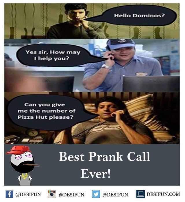 Hello Dominos? Yes sir How may I help you? Can you give me the number of Pizza Hut please? Best Prank Call Ever!…