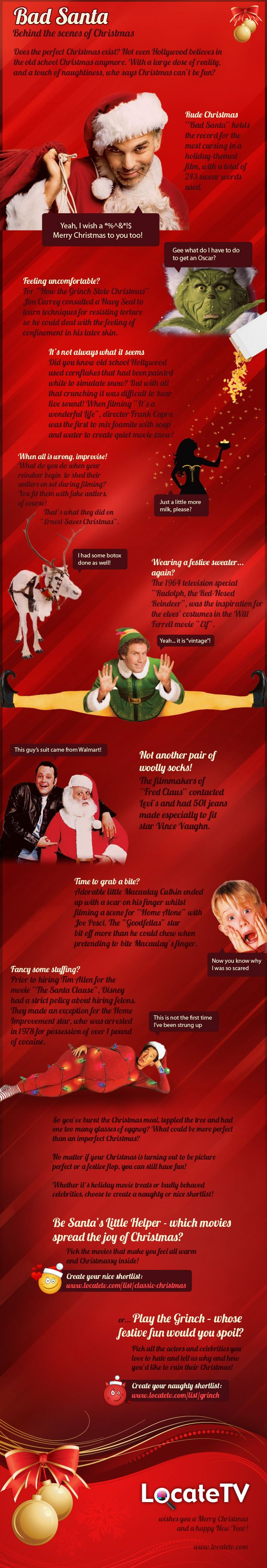 Tis the Season: Infographic Zone, Christmas 2012, Scenes, Holiday Infographics, Christmas Infographics, Bad Santa, Merry Christmas