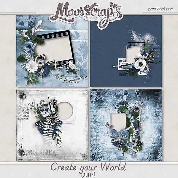 pack of 4 quickpages  https://www.digitalscrapbookingstudio.com/digital-art/quick-pages/create-your-world-album/  http://www.oscraps.com/shop/Create-your-world-album.html