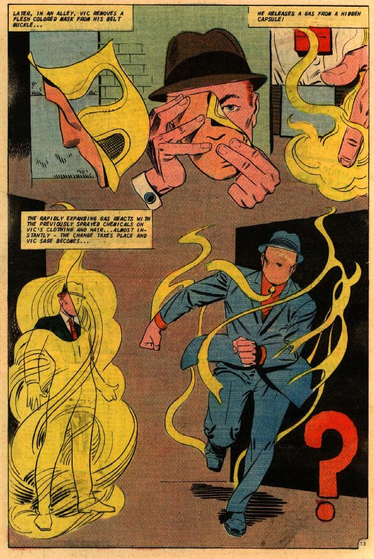 Steve Ditko's The Question. Inspiration for Rorschach in Watchmen.