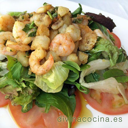 Ensalada marinera templada » Divina CocinaRecetas fáciles, cocina andaluza y del mundo. » Divina Cocina