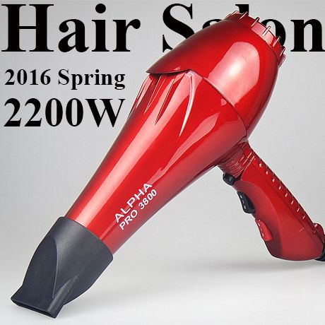 ALPHA Pro 3800 Professional Hair Dryer Styling Accessory For Salon Use Powerful Blow Dryer Long Life AC Motor