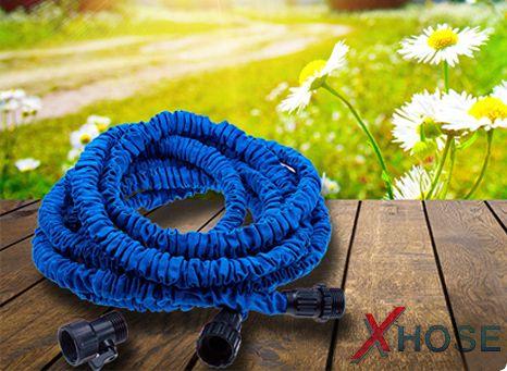 Водяной шланг Xhose, увеличивающийся в 3 раза, от интернет-магазина шлангов для полива + распылитель в подарок!
