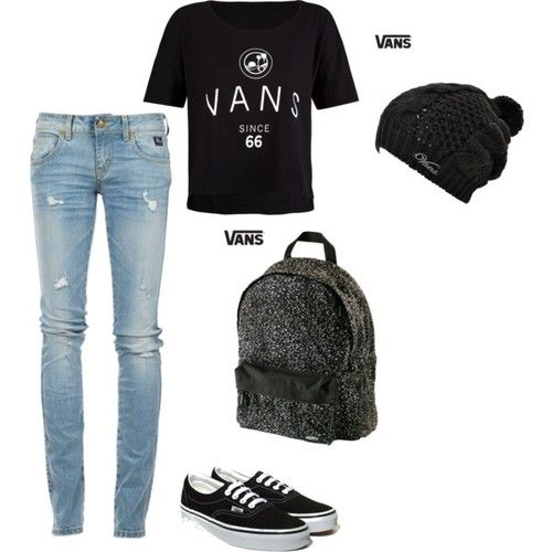 Love this outfit with these super cute vans. Would wear all the time.