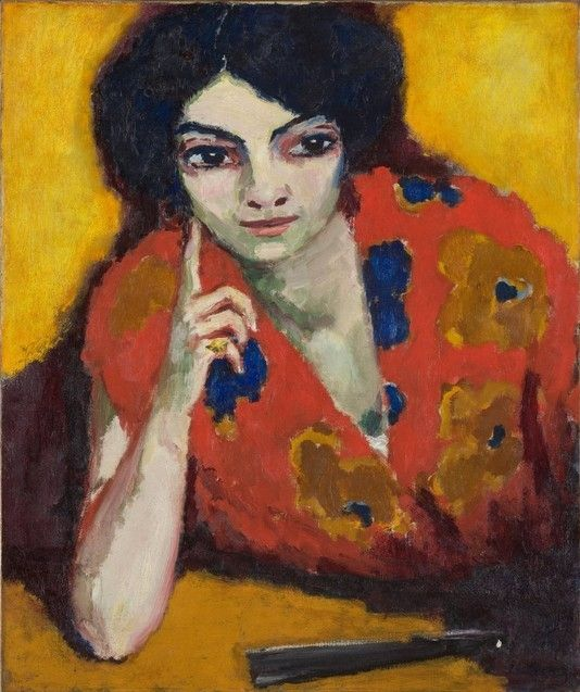 """Vinger op de wang (Finger on the Cheek)"", c. 1910 / Kees van Dongen (1877-1968) / Boijmans van Beuningen Museum, Rotterdam, The Netherlands"