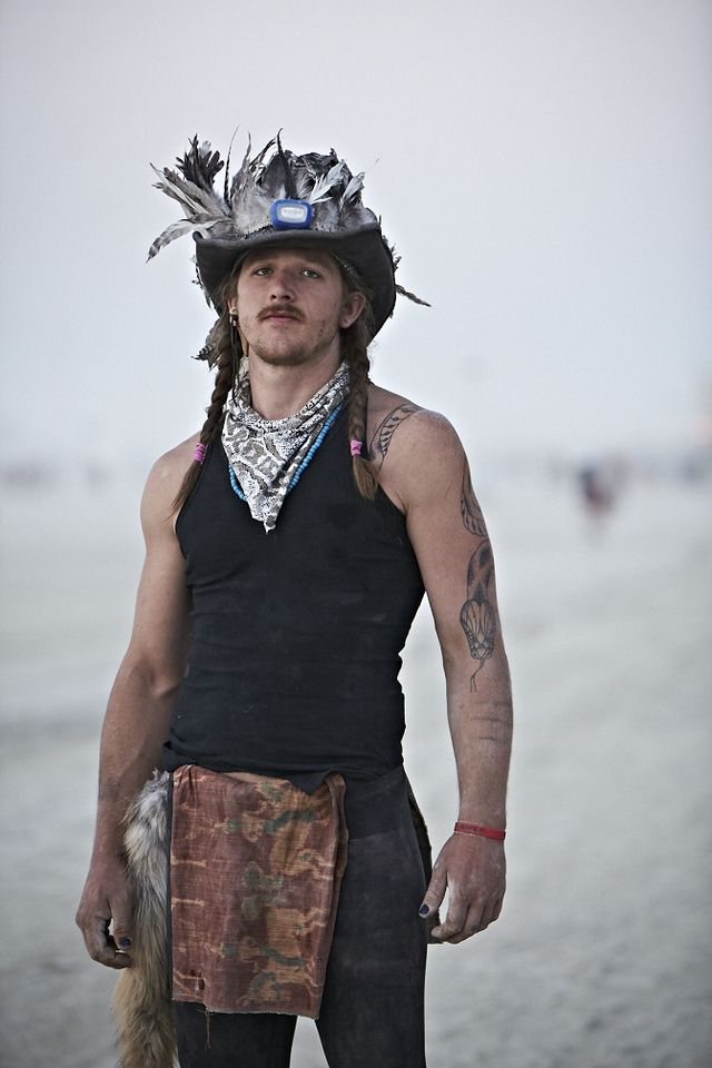 Milk Made - The People Of Burning Man----Love the idea of the decorated cowboy hat