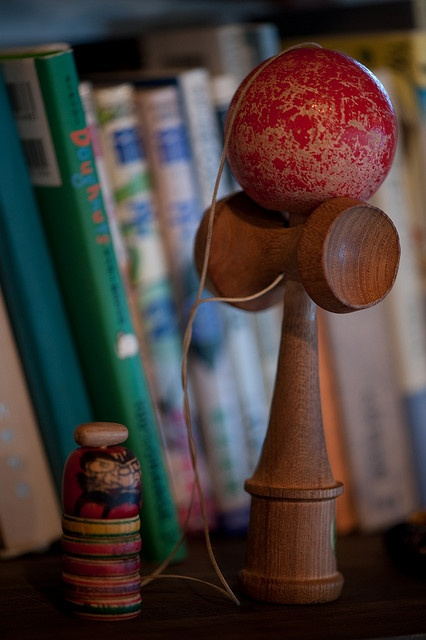 Japanese traditional toy, Kendama. These are so popular in Kauai!