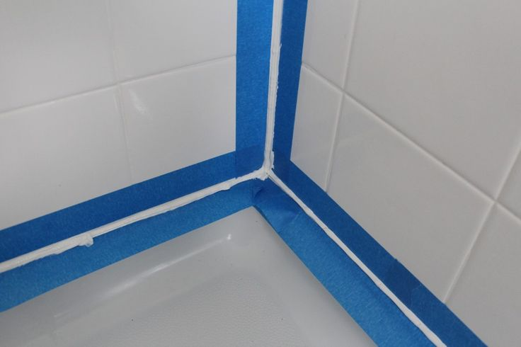 tape off for caulking the tub and shower diy pinterest