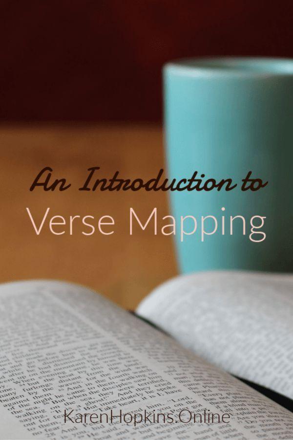 Verse Mapping - Karen Hopkins Online | Bible Journaling