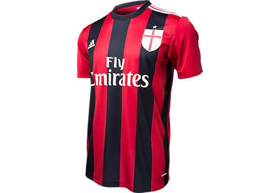 adidas AC Milan Home Replica Tee...Available at SoccerPro.