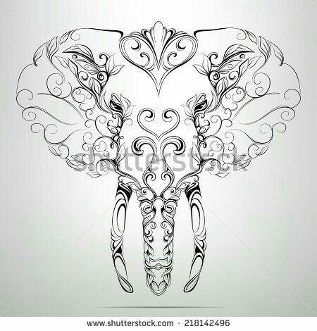 ~ CLIP ART GALORE ~ Elephant design