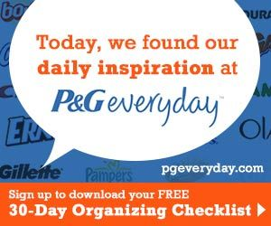 free 30 day organizing checklist from p amp g plus access to coupons