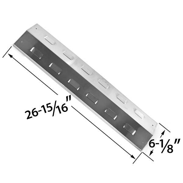 REPLACEMENT STAINLESS STEEL HEAT SHIELD FOR MASTER CHEF, CHARBROIL AND KENMORE GAS GRILL MODELS Fits Compatible Master Chef Models : 405LP, 85-1618-4, 85-3003-4, 85-3023-6, G43406, G43702, S405LP, T405, T405S Read More @http://www.grillpartszone.com/shopexd.asp?id=33800&sid=26063