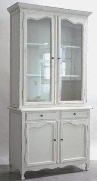Credenza vetrina shabby chic bianca - Etnico Outlet 998