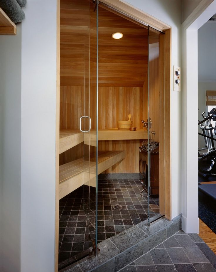 Amazing custom home sauna.