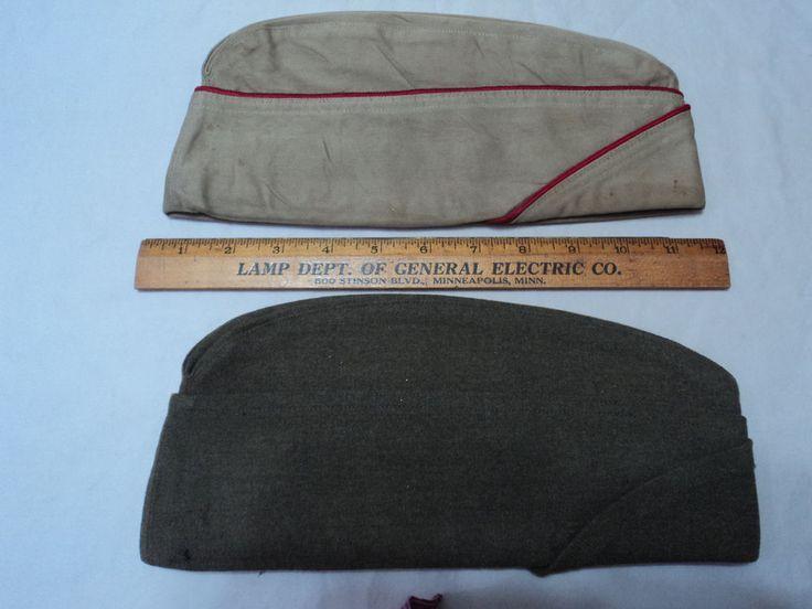 Lot Of 2 Vintage Military Uniform Hats